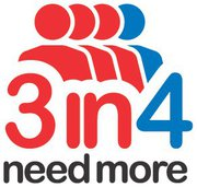 3in4 Need More logo